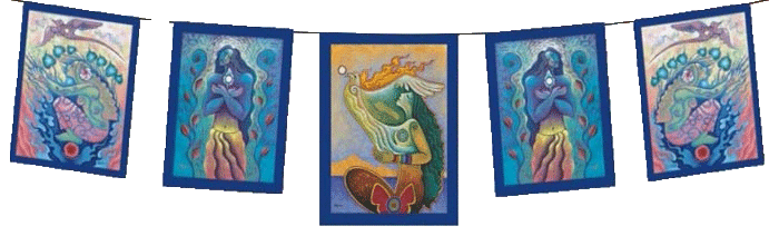 Rooted in Reverence, Seated in Spirit Goddess Garden Flags