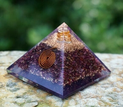 Ruby Orgonite Copper Spiral Pyramid Ruby Orgonite Copper Spiral Pyramid