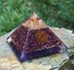 Ruby Orgonite Copper Spiral Pyramid - ROPY