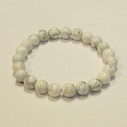 Howlite for Peace and Calmness 8mm Beaded Crystal Stone Bracelet      Stone Bracelets, Healing Bracelets, Crystal Bracelets, Crystal Bracelets Omaha, Omaha Rock Shop, Omaha Metaphysical Shop