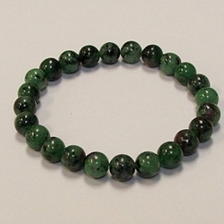 Ruby Zoisite For Health and Energy 7mm Beaded Crystal Stone Bracelet     Ruby Zoisite For Health and Energy 8mm Beaded Crystal Stone Bracelet