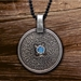 Vikings - Shieldmaiden Pendant w/ Denim Lapis - CT4