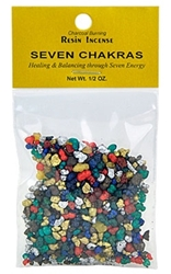 SEVEN CHAKRAS RESIN INCENSE - 1/2 OZ.