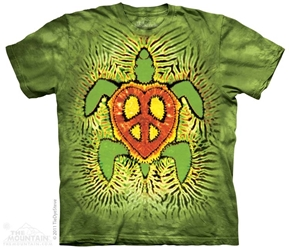 Sea Turtle T-Shirt | Rasta Peace Turtle Tee Shirt
