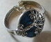 Silver Tree of Life Bracelet with Blue Abalone Shell   - GDSTOLBR