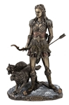 Skadi - Norse Goddess Of Winter, Hunt And Mountains, Bronze Finish