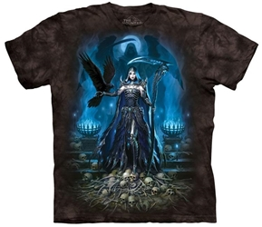 Skull T-Shirt | Reaper Queen with Raven Tee Shirt Skull T-Shirt | Reaper Queen with Raven Tee Shirt