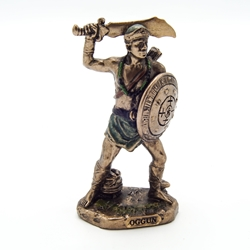 Small OGGUN GOD OF WAR, IRON AND HUNTING Orisha Statue  OGGUN GOD OF WAR, IRON AND HUNTING