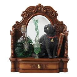 So Cool! Absinthe Black Cat Statue by Lisa Parker   Absinthe Black Cat Statue by Lisa Parker
