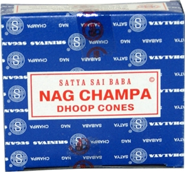 Certified Authentic Sai Baba Nag Champa Cones Incense  Champa Cones