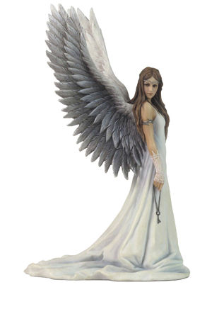 Spirit Guide Angel with Key Figurine by Anne Stokes