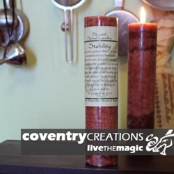 Stability Cleansing Blessed Herbal Spell Candle