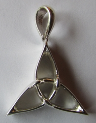 Sterling Silver Blade Triquetra Pendant