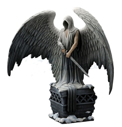Stunning Gothic Guardian Angel Statue By La Williams