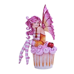 Sweet Tooth Fae Fairy with Cupcake Statue by Amy Brown  Sweet Tooth Fae Fairy with Cupcake Statue by Amy Brown