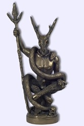 The Witch Lord Statue by Chris Orapello Baphomet