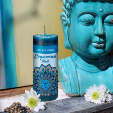 Throat (5th) Chakra Magic Empowered Blue Candle