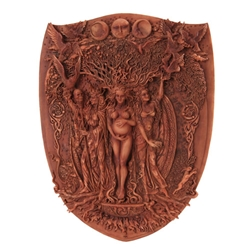Triple Goddess Mother Maiden Crone Plaque by Maxine Miller
