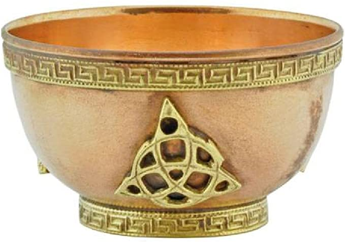 "Triquetra Copper Offering Bowl 3""D Triquetra Copper Offering Bowl 3""D"