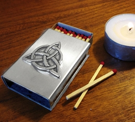 Triquetra Stainless Steel Match Cover