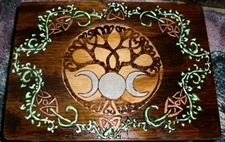 Twining Tree Wooden Altar