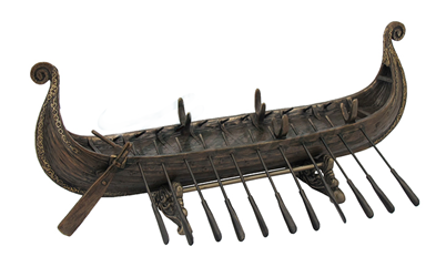 Viking Boat With Oars