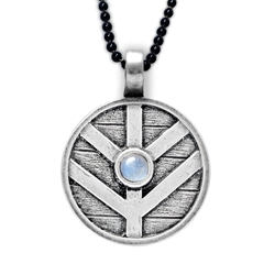 Vikings - Shieldmaiden Pendant with Moonstone, Limited Edition! Vikings - Shieldmaiden Pendant with Moonstone, Lagertha pendant, Viking pendant, shield maiden