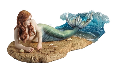 Waiting Mermaid Statue by Selina Fenech