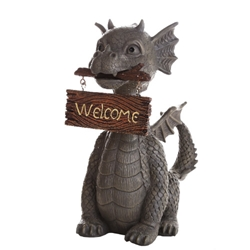 Welcome Garden Dragon Statue  Welcome Garden Dragon Statue