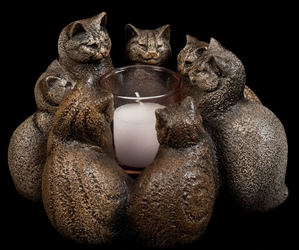 Windstone Editions Candlelamp Circle of Cats
