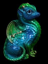 Windstone Editions Emerald Peacock Fledgling Dragon