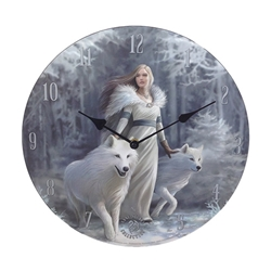 Winter Guardians Clock by Anne Stokes
