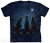 Wish Upon a Star Three Black Cats Tee Shirt by Lisa Parker