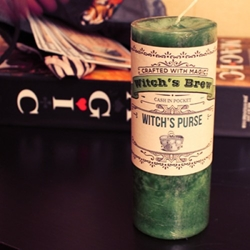 Witchs Purse Witchs Brew Candle