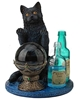 Witches Apprentice Black Cat Statue by Lisa Parker   Witches Apprentice Black Cat Canvas Art Print by Lisa Parker, black cat print, witch familiar