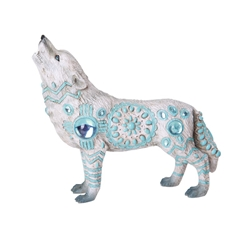 Wolf Spirit Collection Statue Turquoise Wolf