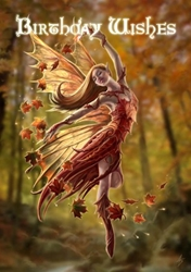 Autumn Fairy Anne Stokes Birthday Card