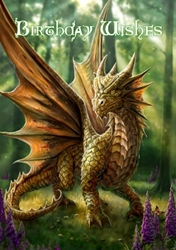 Friendly Dragon  Anne Stokes Birthday Card