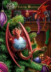 Little Helpers Yule Card by Anne Stokes