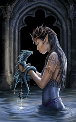 Anne Stokes Water Dragon Card