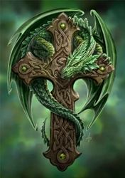 Anne Stokes Woodland Guardian Card