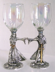 Arthur & Guinevere Toasting Glasses Arthur & Guinevere Toasting Glasses, Wedding Glasses, Handfasting Glasses, Celtic Wedding Glass