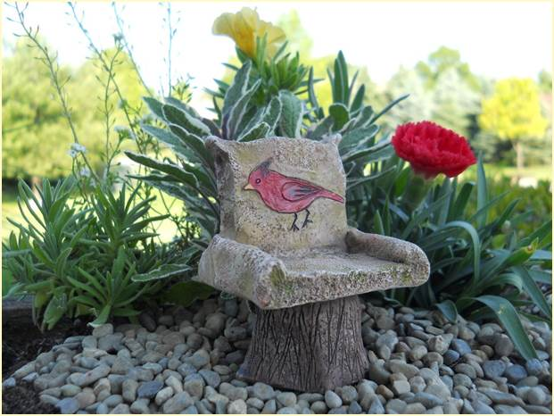 Fairy Garden Cardinal Chair