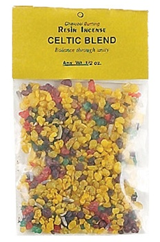 CELTIC BLEND RESIN INCENSE - 1/2 OZ.
