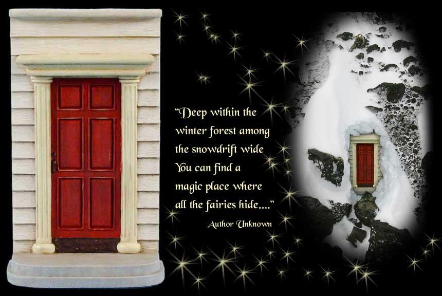 Gypsy garden christmas collection for Red elf door