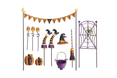 Mini Gypsy Halloween Garden Collection  Save! Get all six items only