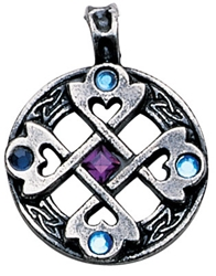 Celtic Cross Heart Pendant for True & Happy Friendship  Celtic Cross Heart Pendant for True & Happy Friendship