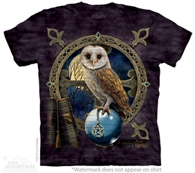 Owl T-Shirt | Spellkeeper by Nemesis Now Artist Lisa Parker  Owl T-Shirt, Spellkeeper by Nemesis Now Artist Lisa Parker, Owl with Pentacle Tee Shirt