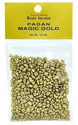 PAGAN MAGIC GOLD RESIN INCENSE - 1/2 OZ.