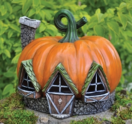 Fiddlehead Fairy Village - Pumpkin Cottage
